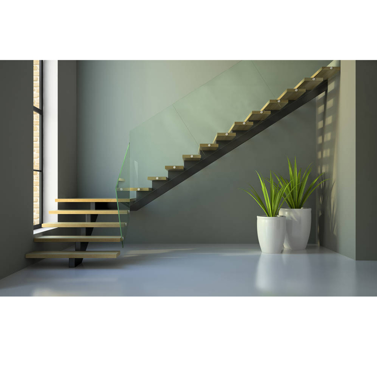 Steel wood mono staircase modern style