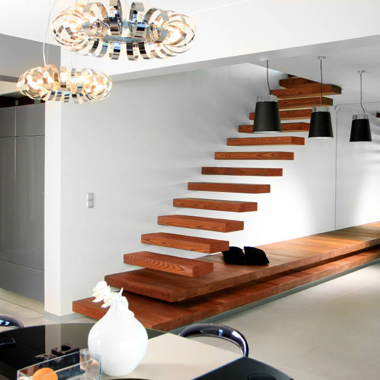 timber floating staircase