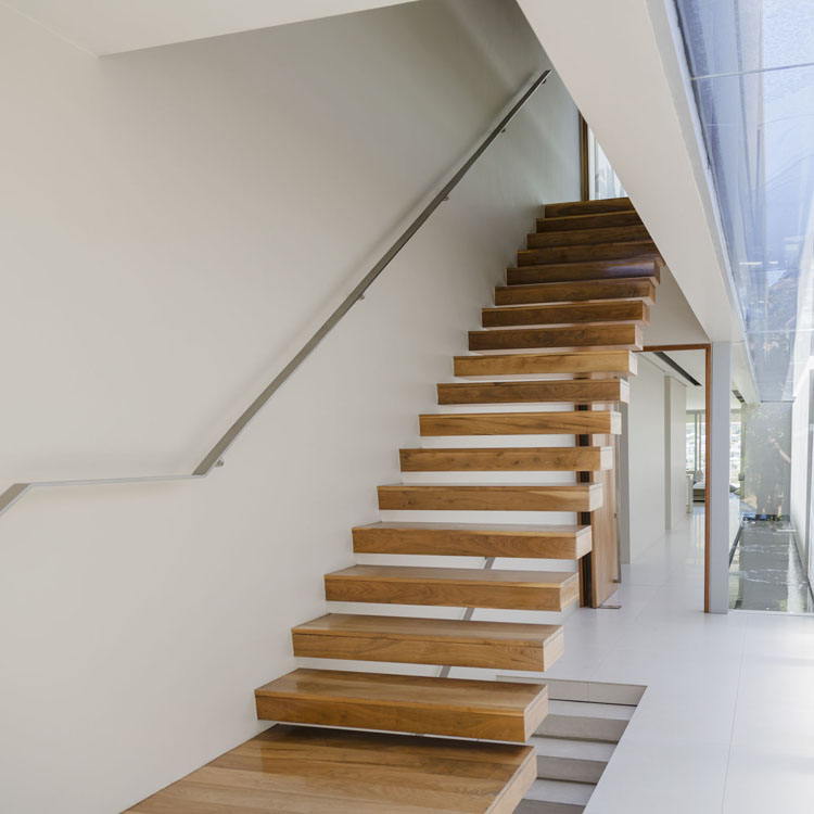 oak beech floating staircase