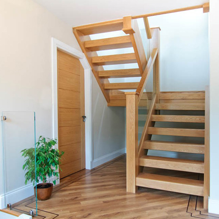 beech straight staircase