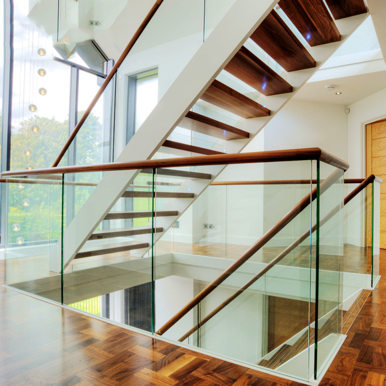 double stinger solid wood staircase