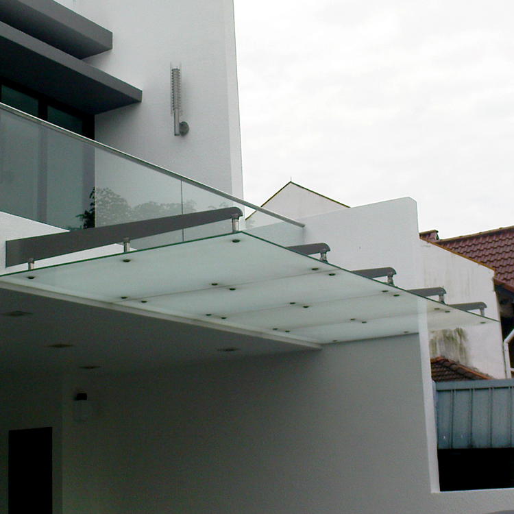 Stainless Steel Tempered Glass Canopy