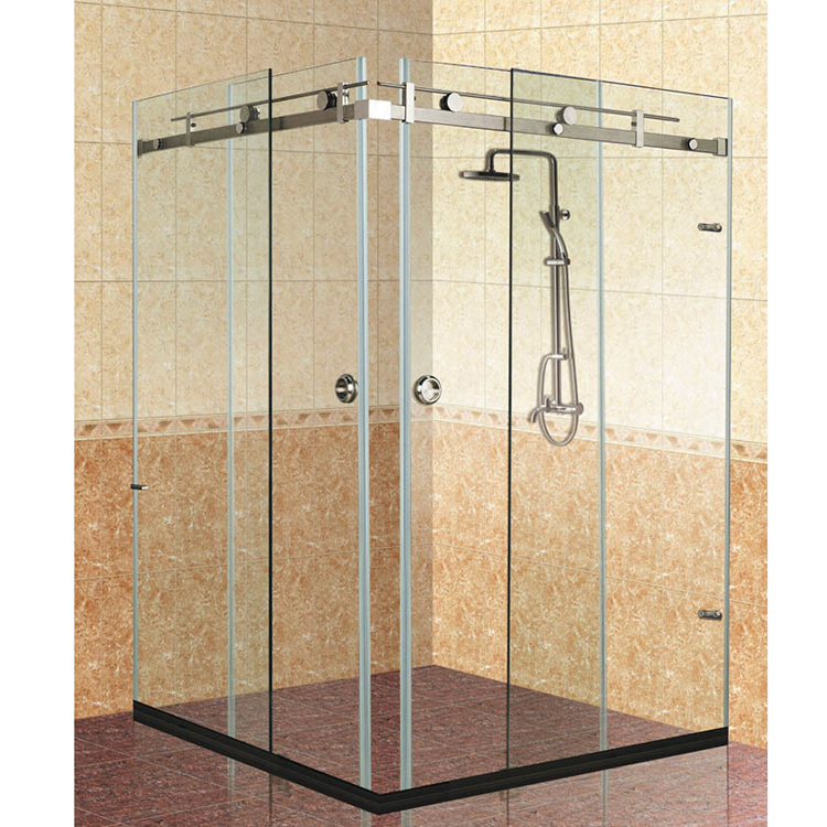stainless steel glass shower screen