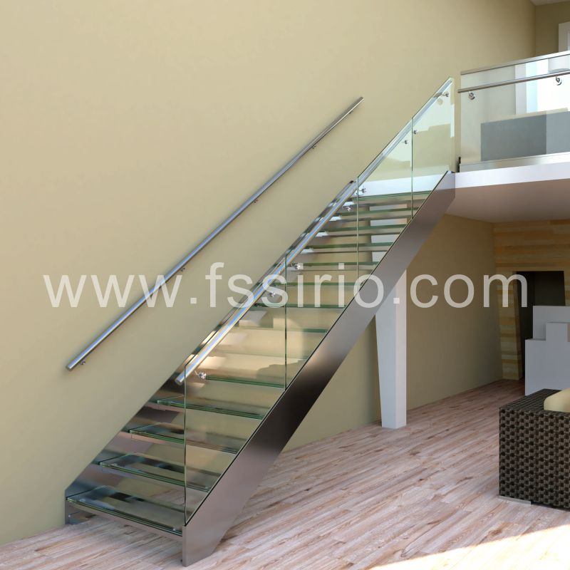 Tempered glass stainless steel staircase hot sale