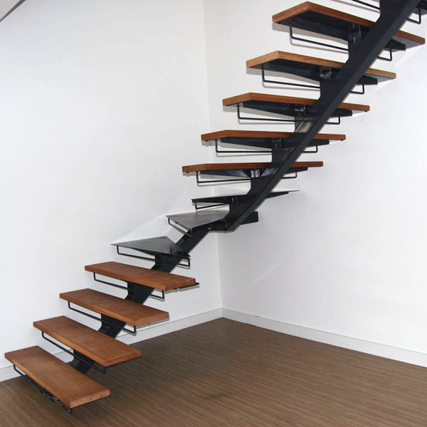 mono stringer staircase-40treads-190mm L shape staircase